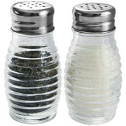 HDS Trading Home Basics 2-Piece Glass Beehive Salt and Pepper Set