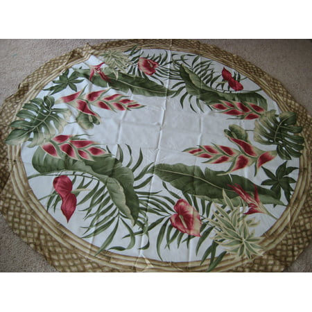 Hawaiian Tropical Fabric Tablecloth (Hawaiian flower) (70
