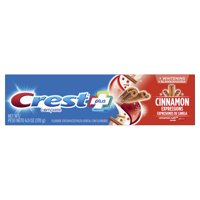 Crest Plus Complete Whitening Fluoride Toothpaste, Cinnamon Rush, 6.0 oz
