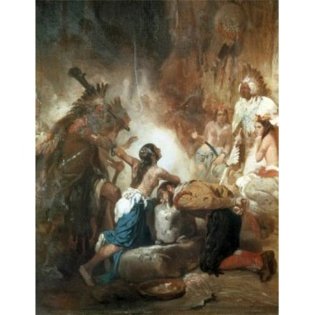 Posterazzi SAL9004745 Pocahontas Saving the Life of John Smith Alonzo Chappell 1828-1887 American Poster Print - 18 x 24 in.
