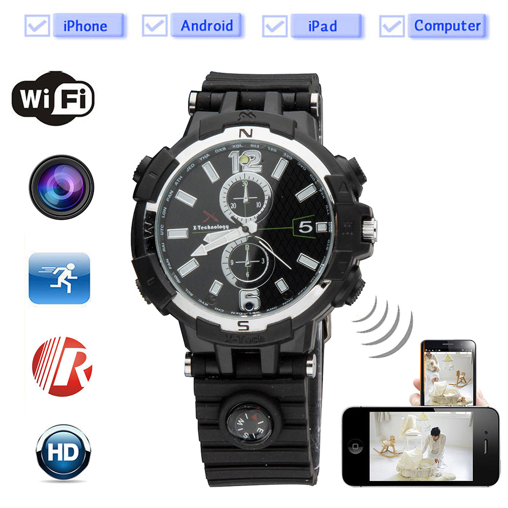 Ledao 720P HD WIFI Watch Remote Monitoring Camera Watch