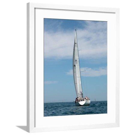Sailboat Race, Pt Huron to Mackinac Island, MI Framed Print Wall Art By Dennis Macdonald ()