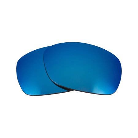 9644e20f62fba Seek Optics - Best SEEK Replacement Lenses for Oakley SIDEWAYS Blue Mirror  100% UV - Walmart.com