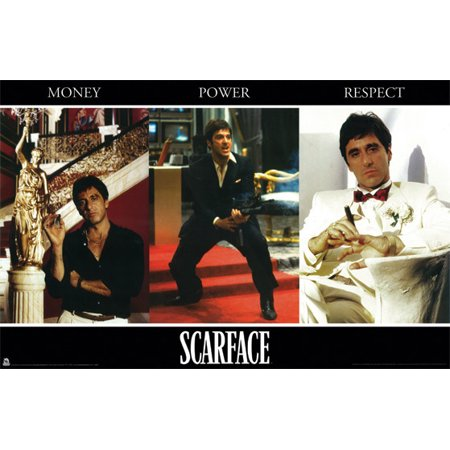 Scarface Money Power Respect Collage Poster, 24