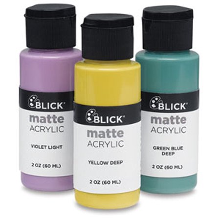 Aqua Metallic Acrylic Lacquer (Blick Matte Acrylic - Aqua, 2 oz bottle )