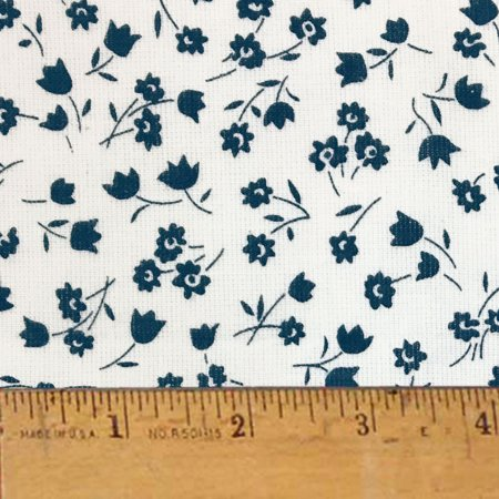 Nautical Bliss Farm Cloth Feedsack Print Cotton Homespun Fabric  Sold by the Yard - JCS Fabric