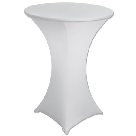 Banquet Tables Pro 30 x 42 White Spandex Highboy Cocktail Cover