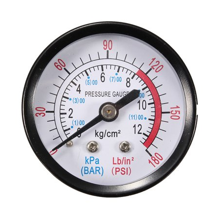 MATCC 52mm 2 inch Air Pressure Pneumatic Hydraulic Fluid Pressure Gauge Meter 1/4
