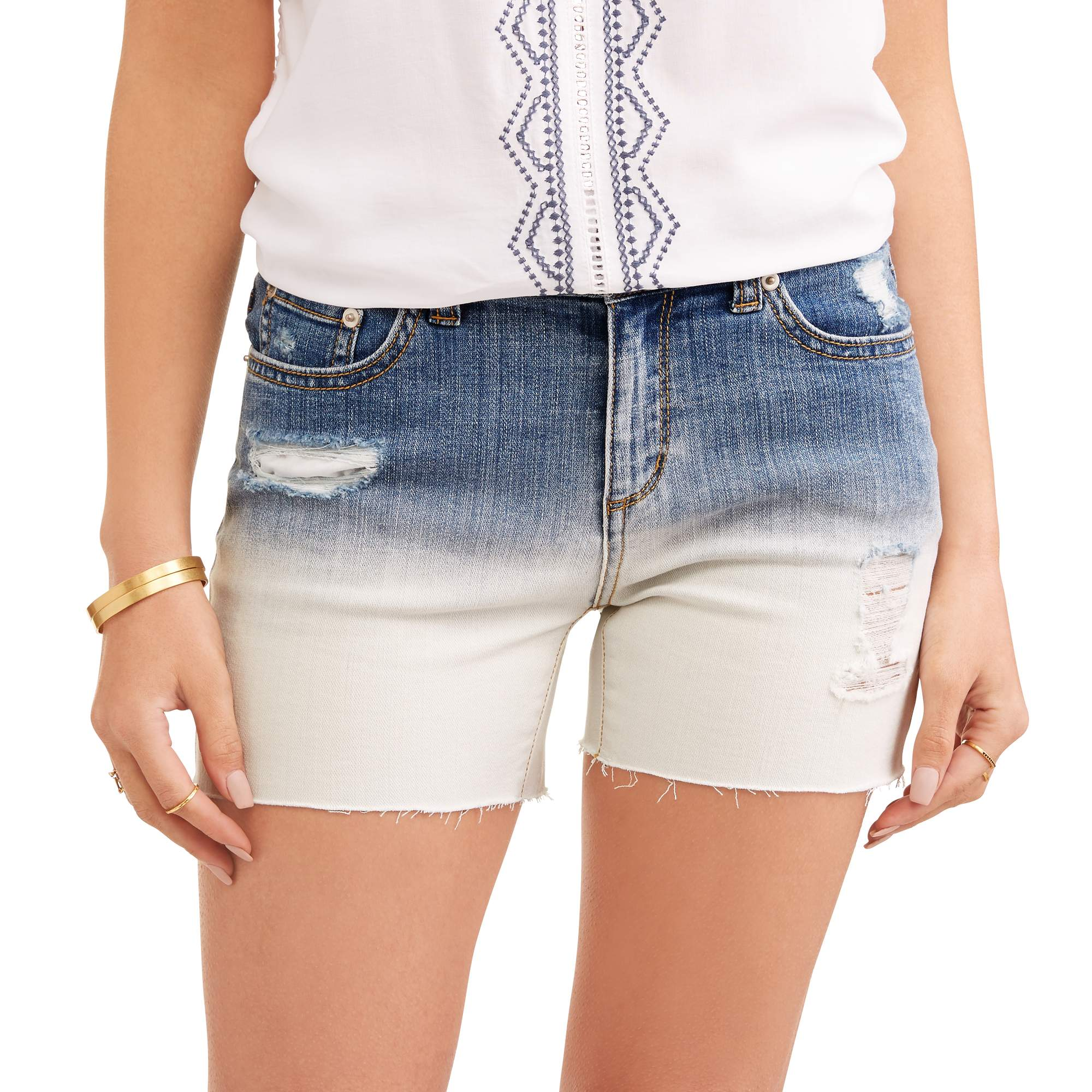 Time and True Women's Denim Fashion Shorts