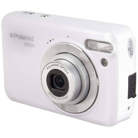 Polaroid White iS824 Digital Camera with 16 Megapixels and 8x Optical