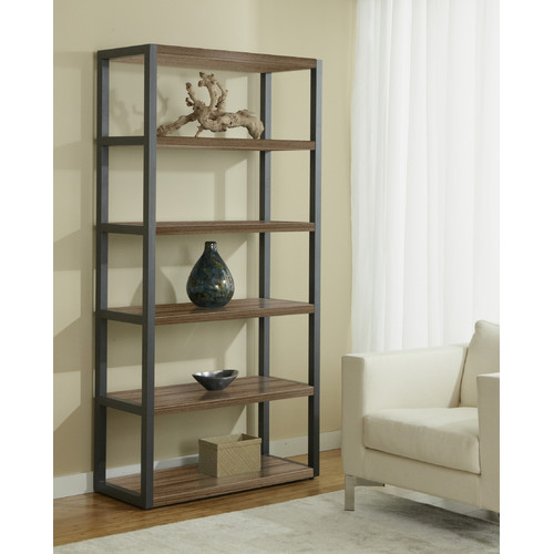Open High Bookcase in Cherry Finish