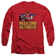 Mighty Morphin Power Rangers Megazord Activated Mens Long Sleeve Shirt