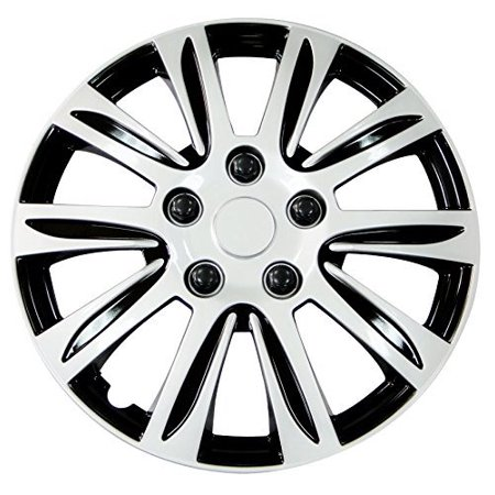 Hubcaps, 14 Inch Silver Label For Jeep Vw Toyota Honda Universal Wheel Cover
