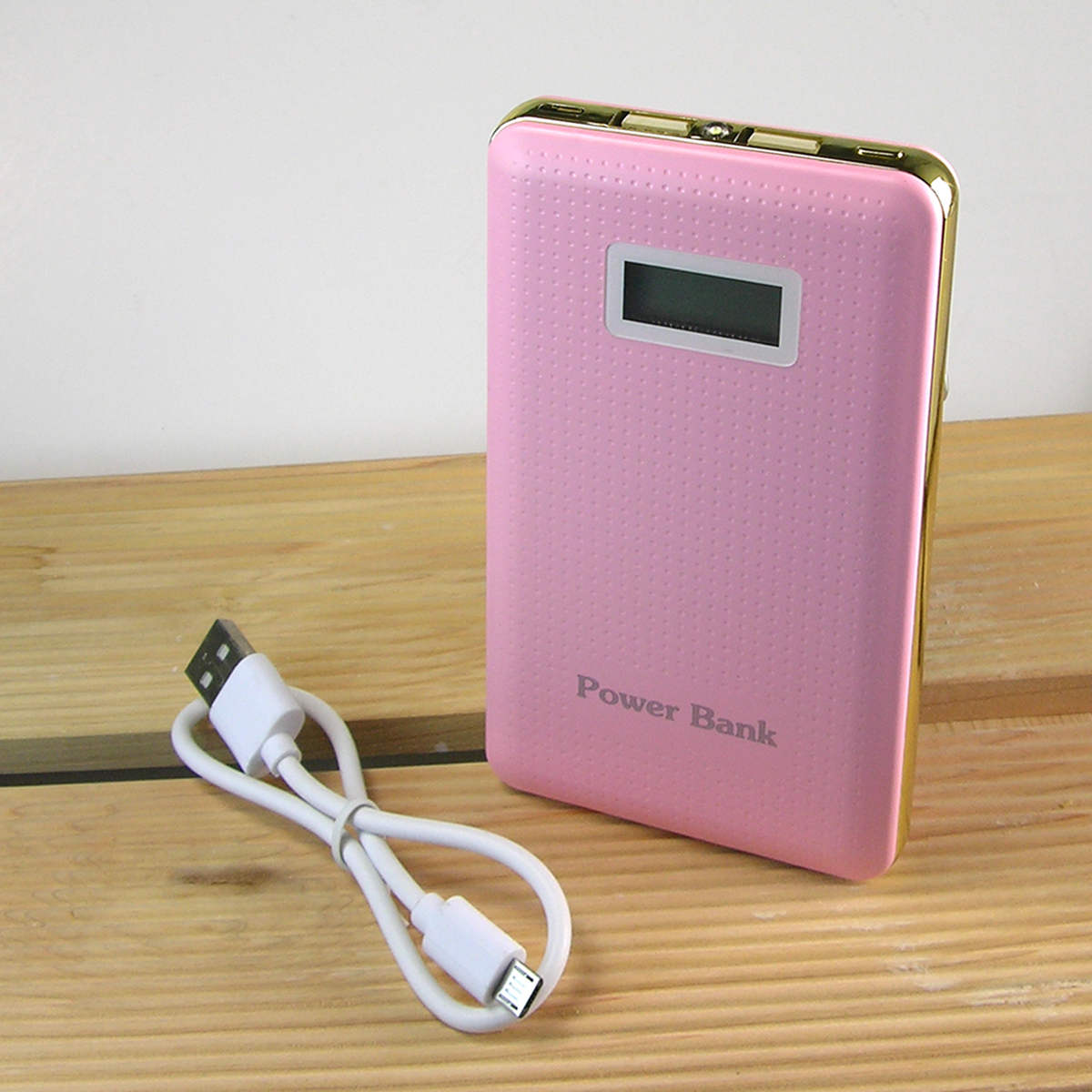 iCover 10,000 mAh Universal Power Bank w/ Charging Indicator- Pink