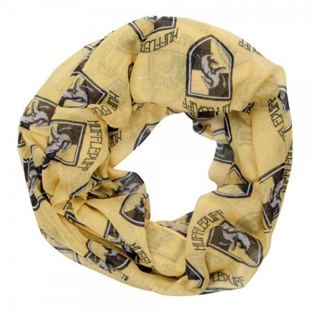 HARRY POTTER Hufflepuff House Crest Viscose Scarf.