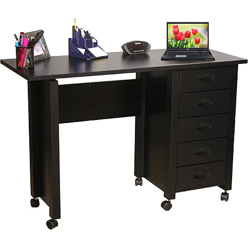 Mobile Desk and Craft Center, Black