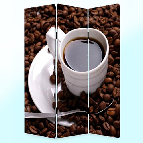 Screen Gems Coffee Time Canvas Double Sided Room Divider Walmartcom