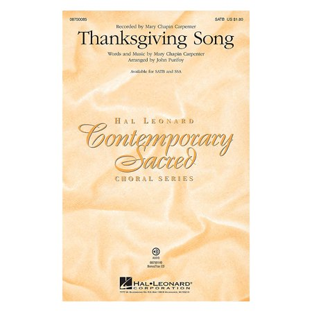 Hal Leonard Thanksgiving Song SSA by Mary Chapin Carpenter Arranged by John Purifoy](Halloween John Carpenter Mp3)