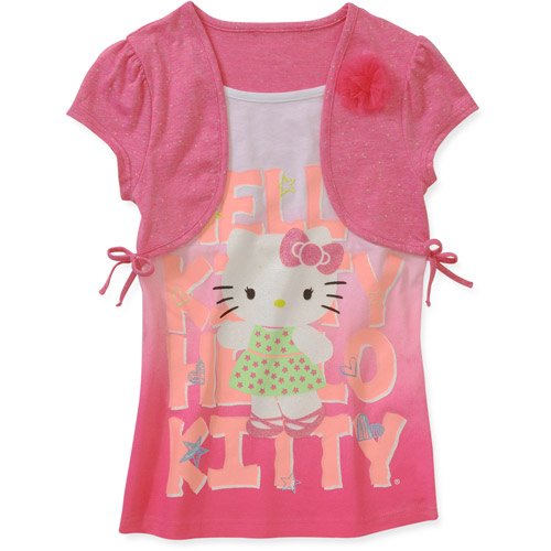 Hello Kitty Girls' Short Sleeve Shrug Tw
