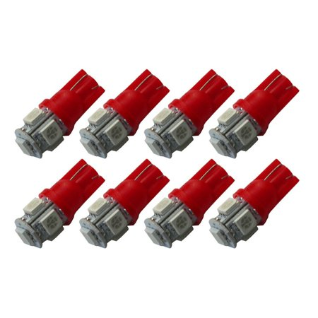 10pcs W5w 194 168 2825 T10 Wedge 5-smd 5050 White High Power Car Led Lights - High Shaft Wedge