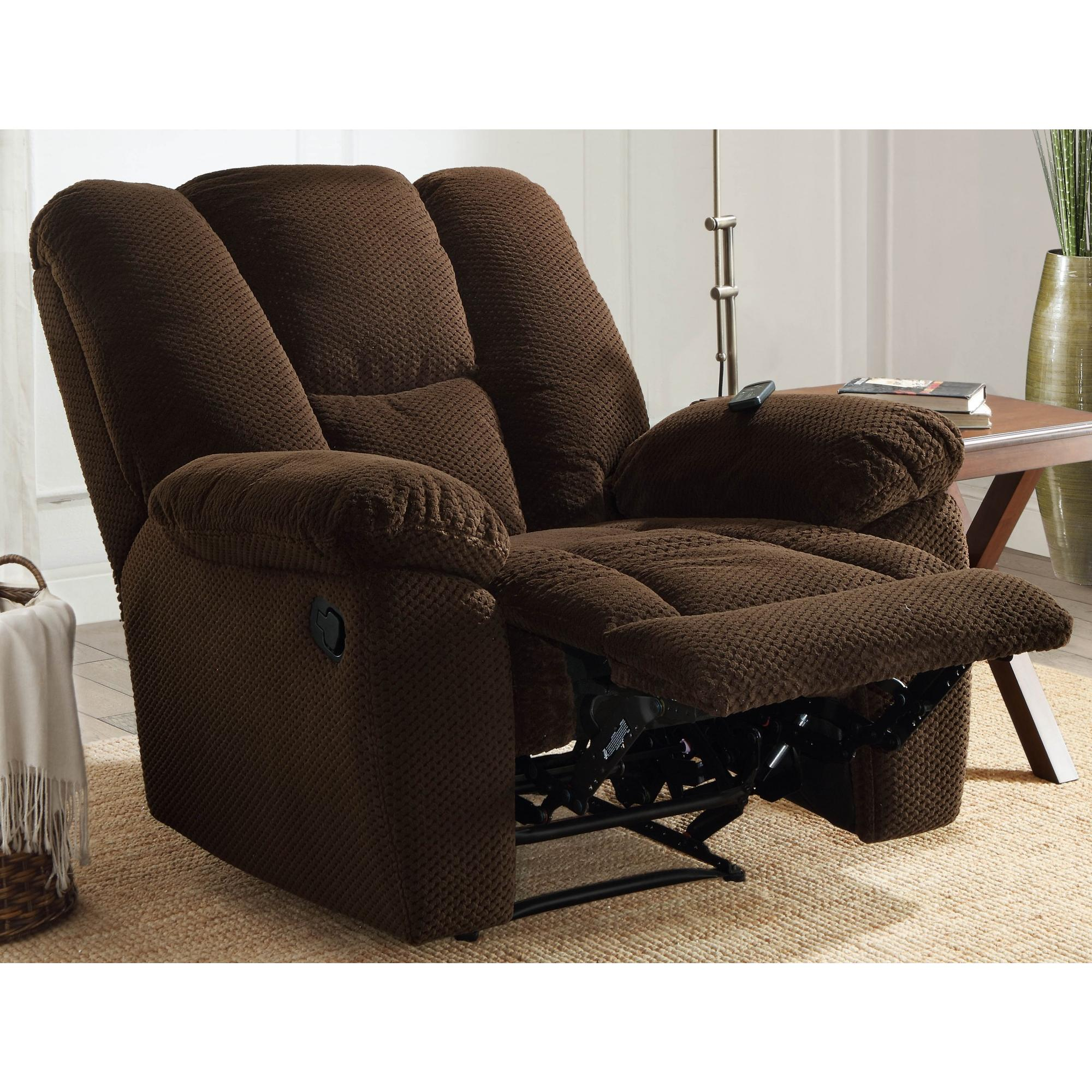 Serta Big u0026 Tall Memory Foam Massage Recliner with USB Charging Chocolate - Walmart.com  sc 1 st  Walmart & Serta Big u0026 Tall Memory Foam Massage Recliner with USB Charging ... islam-shia.org