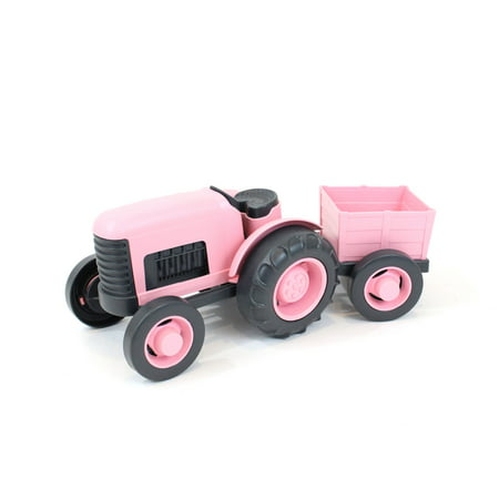 Pink Tractor - Green Toys Tractor - Pink