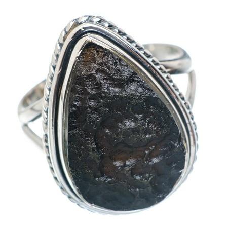 Ana Silver - Tektite Ring Size 7 25 (925 Sterling Silver) - Handmade