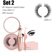 Magnetic Liquid Eyeliner with Magnetic False Eyelashes Easy to Wear Makeup Set SET2