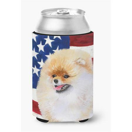 Carolines Treasures BB9682CC Pomeranian Patriotic Can or Bottle Hugger - image 1 of 1