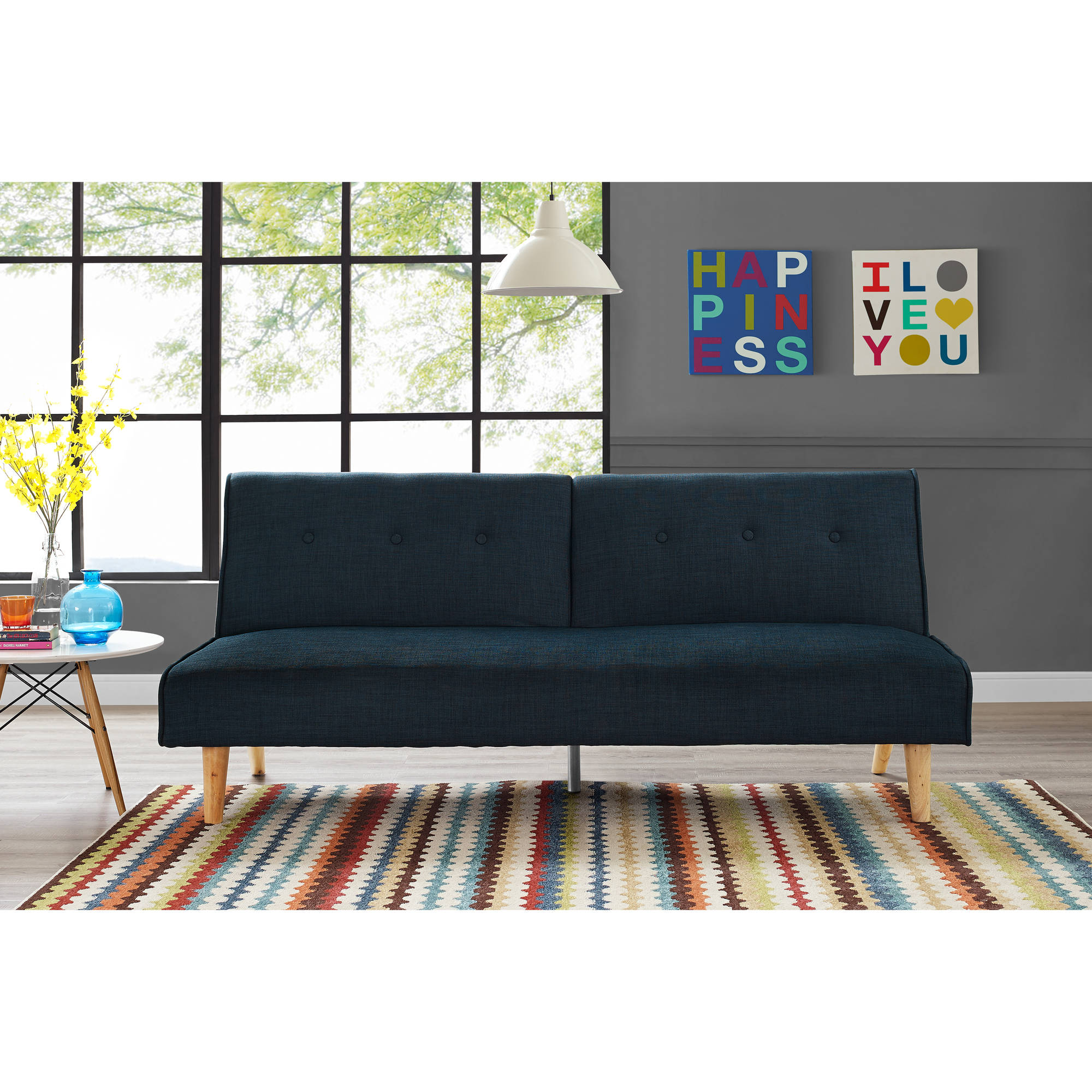 9 by Novogratz Palm Springs Futon Multiple Colors Walmart