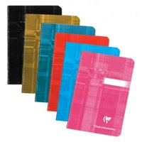 "Exaclair Clairefontaine 63596 Classic Notebook Staplebound 3 1/2"" x 5 1/2"" 48 Sheets Ruled (Black)"