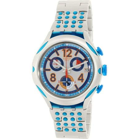 Swatch Men's Irony YYS4007AG Silver Aluminum Swiss Quartz Fashion Watch (Aluminum Quartz Watch)