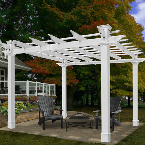 New England Arbors Mandalay 8 Ft. W x 8 Ft. D Pergola