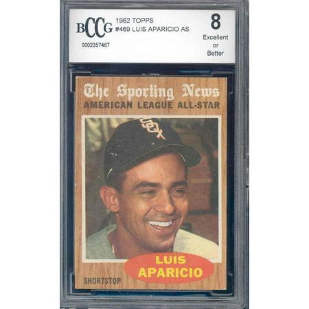 1962 White Sox (1962 topps #469 LUIS APARACIO as white sox BGS BCCG)
