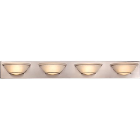 "Wall Sconces 1 Light Fixture With Brushed Nickel Finish Metal Integrated 39"" 144 Watts"