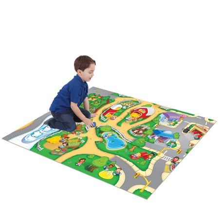 - TCG Toys Fisher Price Little People Original Mega Mat Play Mat w/ Bonus Vehicle
