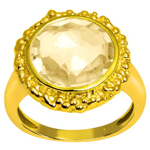 Orchid Jewelry Mfg Inc Orchid Jewelry 5 1/5 Carat Citrine Gemstone 14k Yellow Gold Over Sterling Silver Ring