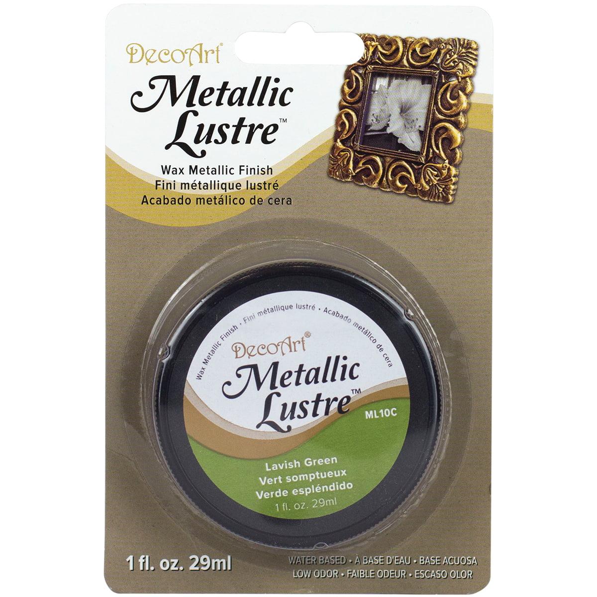 Metallic Lustre Wax Finish 1oz-Lavish Green