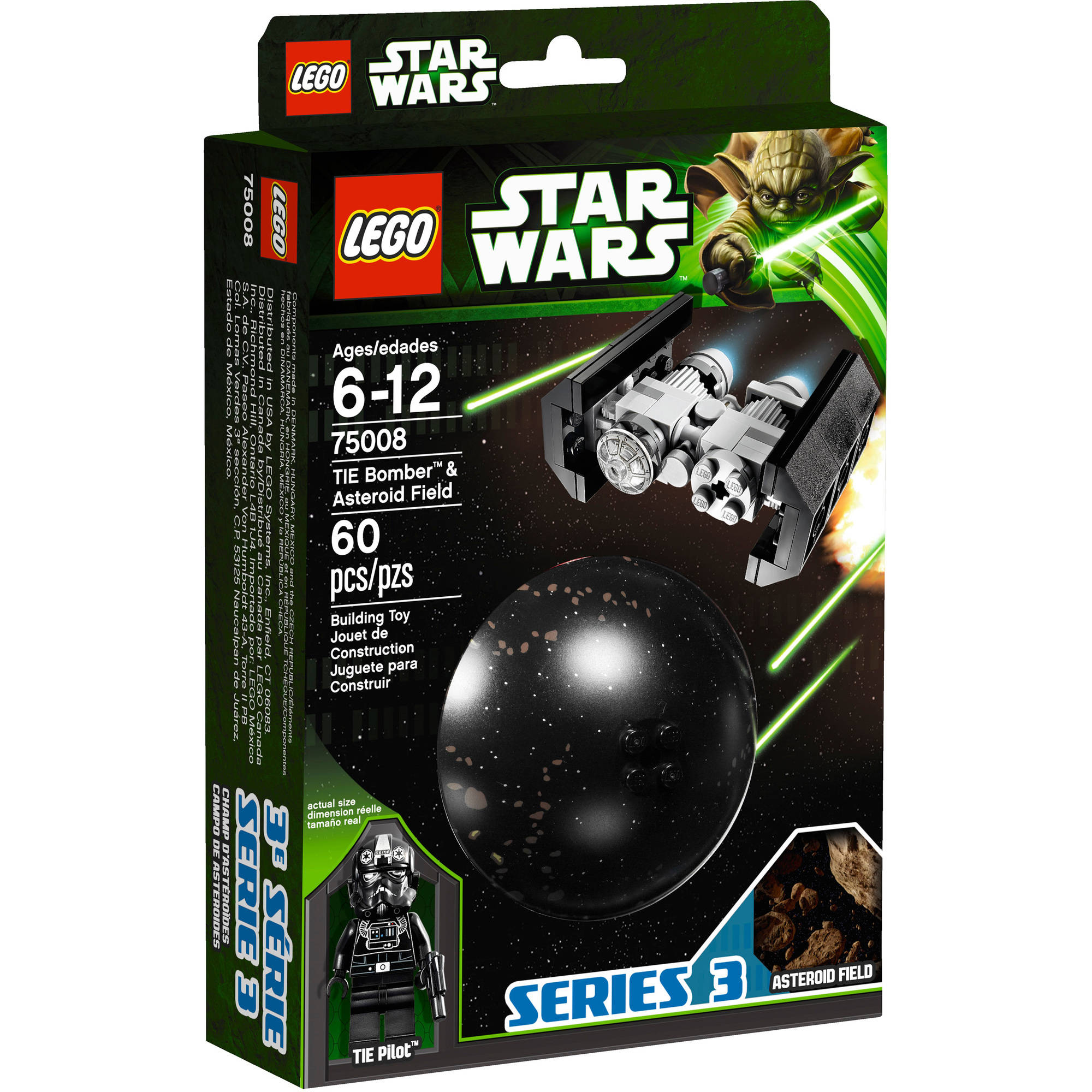 LEGO Star Wars TIE Bomber and Asteroid Field Play Set