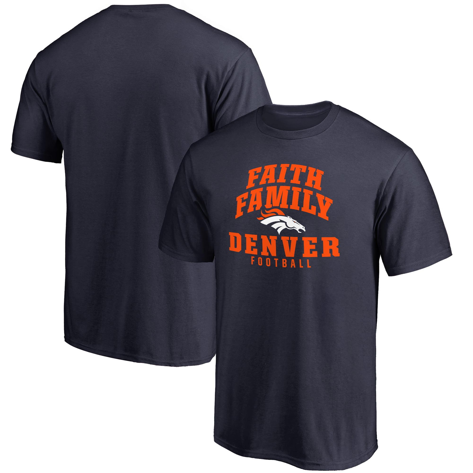 Denver Broncos NFL Pro Line Faith Family T-Shirt - Navy