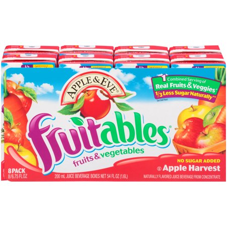 (5 Pack) Apple & Eve Fruitables Juice Drink, Apple Harvest, 6.75 Fl Oz, 8 Count