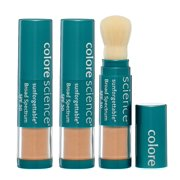 (3 Pack) Colorescience Pro Sunforgettable Brush On Sunscreen Foundation Spf 50, Medium