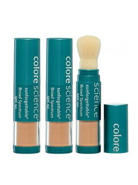 (3 Pack) Colorescience Pro Sunforgettable Brush On Sunscreen Foundation Spf 50, Medium