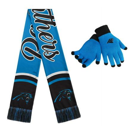 Carolina Panthers Women's Gloves And Scarf Set