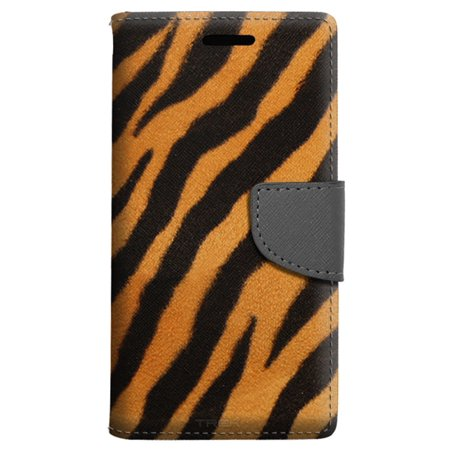size 40 25c2d 4eaa2 Apple iPhone 8 Plus Wallet Case - Brown Black Zebra Case - Walmart.com