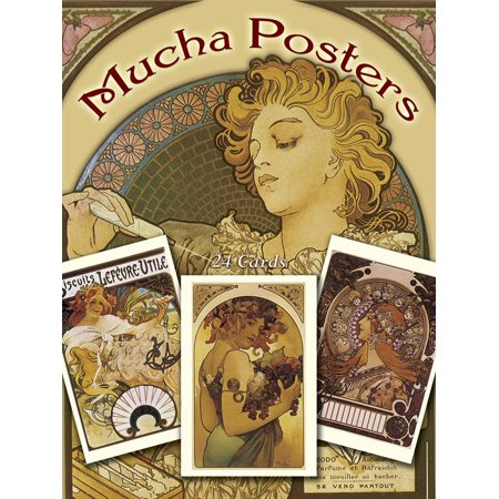 Card Books: Mucha Posters Postcards: 24 Ready-To-Mail Cards