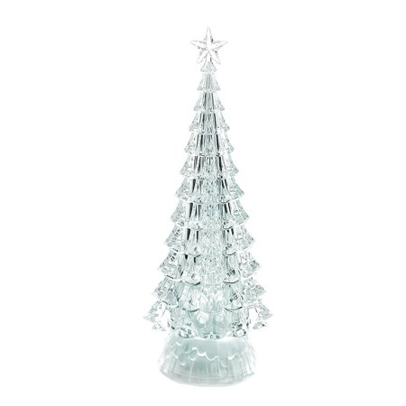 Color Changing Acrylic Led Christmas Tree Decoration 12 1 2 Inch