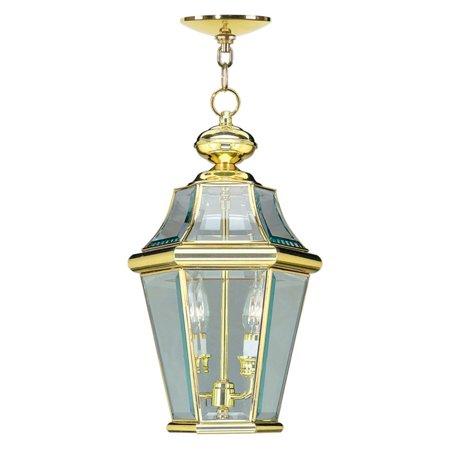 Livex Lighting Georgetown 2 Light Outdoor Chain Lantern