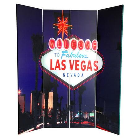Oriental Furniture X 63 39 39 Las Vegas Poker 4 Panel Room Divider