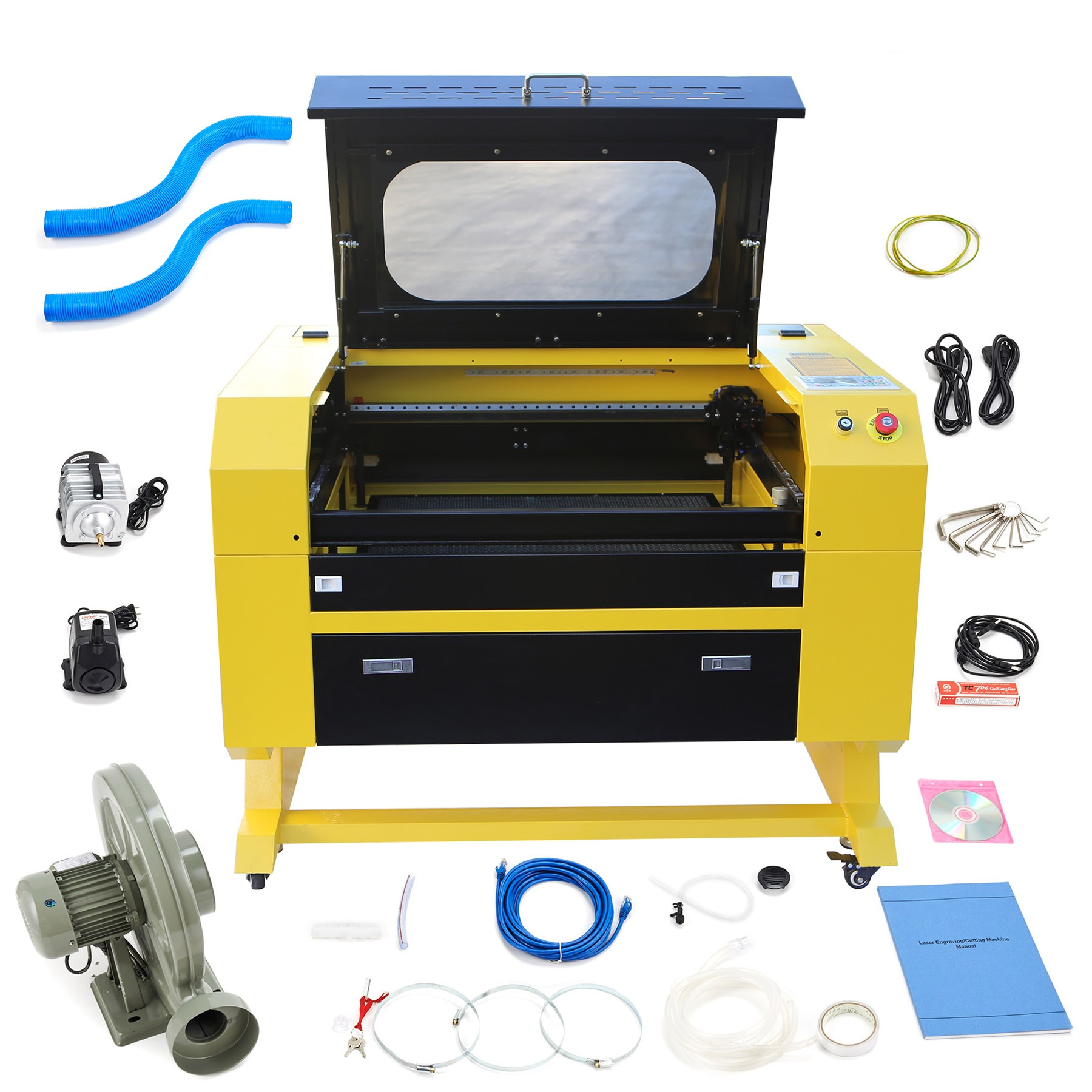 Engraver Cutter 60W 110V CO2 w/ USB Interface Laser Engraving Machine Upgraded